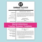 New Teacher Resume, Teaching, Teacher CV MS Word, Educatio
