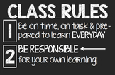 High School Rules and Consequences Posters
