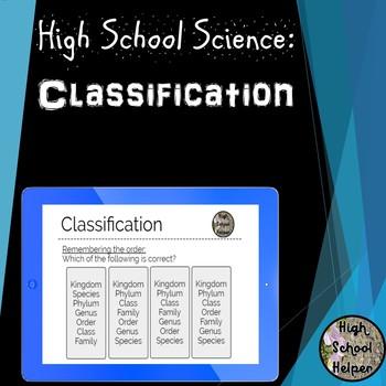 High School Science Classification