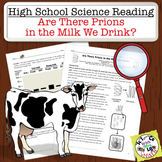 High School Science Reading: Are there Prions in our Milk? - Sub Plan