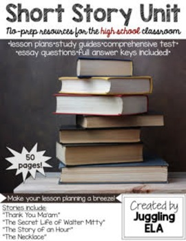 9th Grade Short Stories Study Guides Resources Lesson Plans