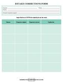 High School Spanish Test Retake Accountability Form
