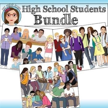 BUNDLE- High School Student Clip Art