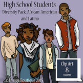 High School Students African American and Latino Clip Art