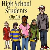 High School Teenager Students  Clip Art
