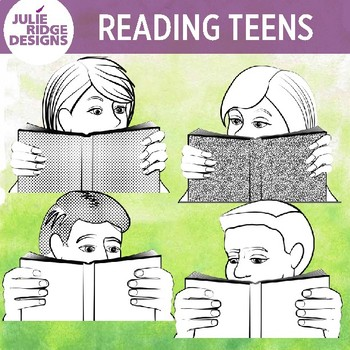 Teens Reading by Julie Ridge