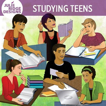 Teen Students Studying by Julie Ridge