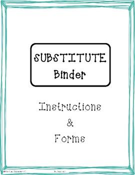 High School Sub Binder