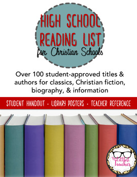 High School Suggested Reading List for Christian Schools