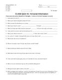High School Survey Quiz
