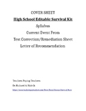 High School Survival Editable Documents