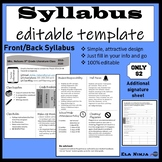 High School Syllabus Template: 100% editable