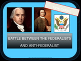 High School Task Cards: Federalists and Antifederalists BATTLE