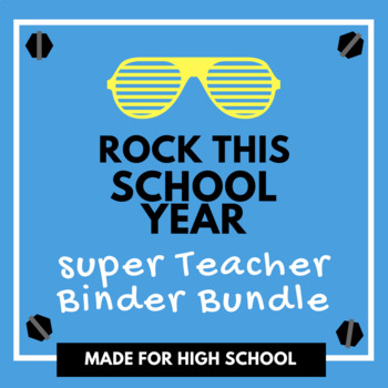 High School Teacher Binder Bundle | Teacher Planner 2018-2019