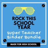 High School Teacher Binder Bundle   Teacher Planner 2018-2019