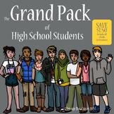 High School Teenager Grand Pack Clip Art