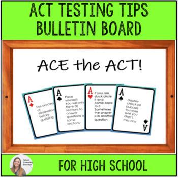 High School Test Tips Bulletin Board- School Counseling
