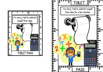High School Toilet Passes (funny passes for most subjects)