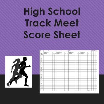 High School Track Meet Score Sheet