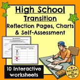 Back to School High School Transition Reflections Self Assessment Pages