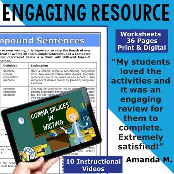 SENTENCE FLUENCY & GRAMMAR in Writing  BUNDLE!! - 10 LESSONS!!!!!! - High School