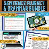 SENTENCE FLUENCY & GRAMMAR in Writing  BUNDLE!! - 10 LESSO