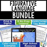 Figurative Language / Literary Devices Bundle - 8 Lessons! - High School