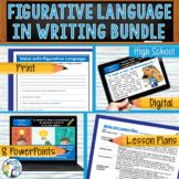 Figurative Language Literary Devices Bundle   8 Lessons   Print and Digital