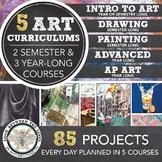 High School Visual Art Curriculum: 5 Art Curriculums for 5