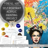 High School Visual Arts Self Portrait Painting Project & How to Mix Skin Tone