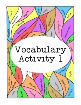 High School Vocabulary Activity Critical Thinking PDF Printable - Number 1