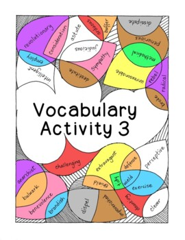 High School Vocabulary Activity Critical Thinking PDF Printable - Number 3