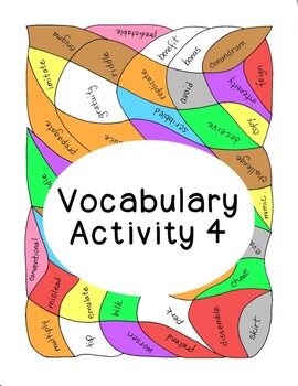 High School Vocabulary Activity Critical Thinking PDF Printable - Number 4