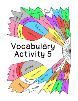 High School Vocabulary Activity Critical Thinking PDF Printable - Number 5