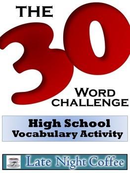 High School Vocabulary Activity-The 30-Word Challenge