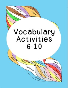 High School Vocabulary Critical Thinking PDF Printables Numbers 6-10 Five Sheets