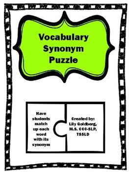 High School Vocabulary Synonym Puzzle