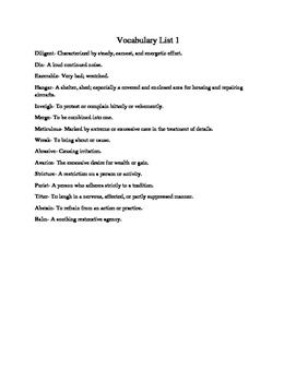 High School Vocabulary Tests 5