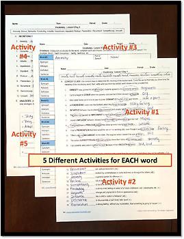 *NO PREP: High School Vocabulary (4 weeks) - 9th-10th Grade - (Unit 2)