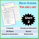 *NO PREP: High School Vocabulary (4 weeks) - 9th-10th Grad