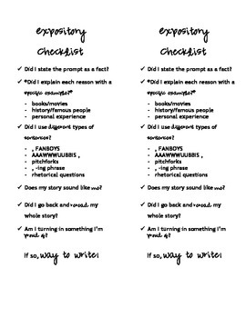 High School Writing Checkmarks