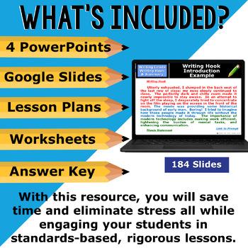 INTRODUCTIONS & CONCLUSIONS BUNDLE - 4 LESSONS!!!! - High School