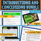 Writing Hooks Writing Leads Introductions Conclusions Bundle | Print and Digital