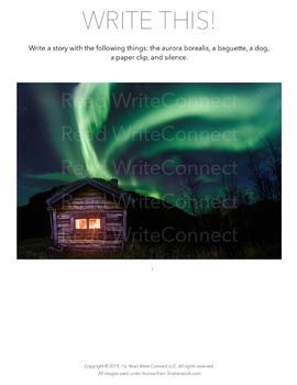 High School Writing Prompt, Creative (Aurora Borealis)