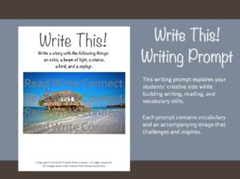 High School Writing Prompt, Creative (Beach House)