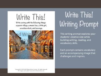 High School Writing Prompt, Creative (Charming Village)