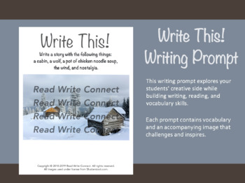 High School Writing Prompt, Creative (Cabin in Mountains)