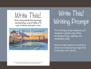 High School Writing Prompt, Creative (Frozen City)