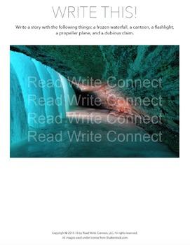 High School Writing Prompt, Creative (Frozen Waterfall)