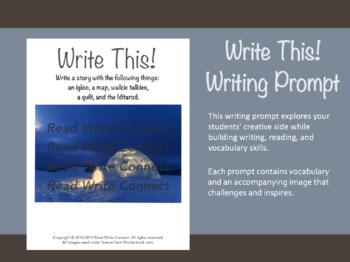 High School Writing Prompt, Creative (Igloo)